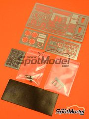 Hobby Design: Photo-etched parts 1/24 scale - Nissan GT-R R35 - photo-etched parts, metal parts and resins - for Tamiya reference TAM24300