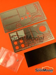 Hobby Design: Photo-etched parts 1/20 scale - Mclaren Ford MP4/8 - FIA Formula 1 World Championship 1993 - photo-etched parts and metal parts - for Tamiya reference TAM25172 image