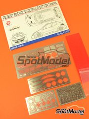 Hobby Design: Photo-etched parts 1/24 scale - Peugeot 206 WRC 2003 - photo-etched parts, metal parts - for Tamiya kit TAM24267 image