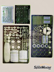 Hobby Design: Photo-etched parts 1/24 scale - Mercedes-Benz 300SL - for Tamiya kit TAM24338