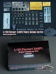 Hobby Design: Detail up set 1/20 scale - Ferrari 248F1 Marlboro #5, 6 - Michael Schumacher (DE), Felipe Massa (BR) 2006 - photo-etched parts, decals, resins and metal parts - for Fujimi kit