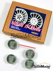 Hobby Design: Upgrade 1/24 scale - OZ 19 inches 16 spokes rims - air valves and resin parts