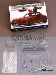Hobby Design: Transkit 1/24 scale - Mercedes Benz SLS AMG GT3 Brabus - resins, photo-etchs - for Revell reference REV07100