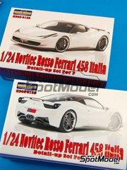 Hobby Design: Transkit 1/24 scale - Novitec Rosso Ferrari 458 Italia - resins, metal and photo-etched parts - for Fujimi kit
