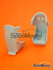 Hobby Design: Upgrade 1/24 scale - Sparco Pro-ADV Racing seats - resins - 2 units