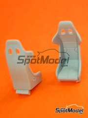 Hobby Design: Seat 1/24 scale - Sparco EVO3 Racing - resins - 2 units