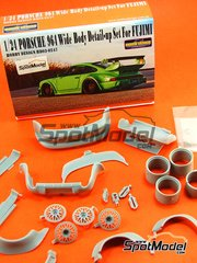 Hobby Design: Transkit 1/24 scale - Porsche 964 RWB Wide Body - photo-etch, resins, metal pieces and decals - for Fujimi kit