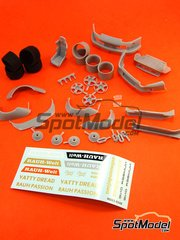 Hobby Design: Transkit 1/24 scale - Porsche 993 RWB Wide Body - photo-etch, resins, metal pieces and decals - for Tamiya kit