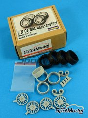 Hobby Design: Upgrade 1/24 scale - OZ WRC - Wheels and Tires - resins and metal parts - 4 units image