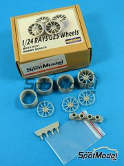Hobby Design: Rims 1/24 scale - Rays G25 rims - CNC metal parts and resin parts - 4 units image