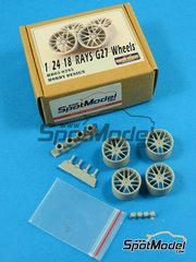 Hobby Design: Rims 1/24 scale - RAYS G27 18 inches - resins and metal pieces - 4 units image