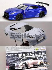 Hobby Design: Transkit 1/24 scale - Nissan R35 LB Performance - resins, photo-etched parts, decals - for Tamiya kit TAM24300