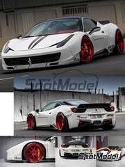 Hobby Design: Transkit 1/24 scale - Ferrari 458 LB Works Performance - resins, photo-etched parts, decals - for Fujimi reference FJ12382 image