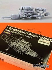Hobby Design: Engine 1/24 scale - Lamborghini Murcielago LP670 - resin kit