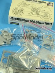 Hobby Design: Detail up set 1/12 scale - Ducati 1199 Panigale S - resins, metal parts and photo-etched parts - for Tamiya kit TAM14129
