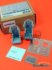 Hobby Design: Seat 1/24 scale - Sparco PRO-ADV Racing - resins, photo-etched parts, decals - 2 units