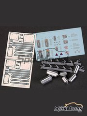 Hobby Design: Detail 1/24 scale - Fire and safety systems - metal parts, resins, decals, photo-etched parts