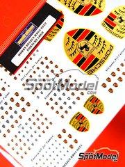 Hobby Design: Calcas de agua escala 1/24 - Porsche 911 - GT3 - Carrera GT - RS - 356 - Cayman logos