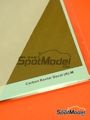 Decals  by Hobby Design - Carbon kevlar square pattern with golden background - small size - type A image