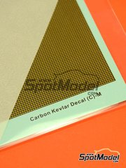 Hobby Design: Decals - Carbon kevlar decals with golden background - medium size