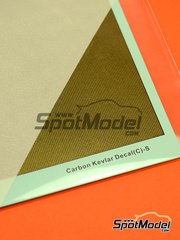 Hobby Design: Decals - Carbon kevlar with golden background - small size