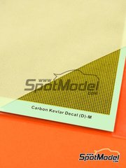 Hobby Design: Decals 1/12 scale - Kevlar fiber with medium size pattern