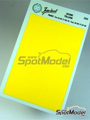 Interdecal: Decals - 75 x 110 mm Yellow