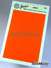 Interdecal: Decals - 75 x 110 mm Orange