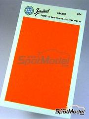 Interdecal: Calcas de agua - Calca de 75x110 de color naranja