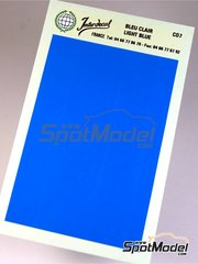 Interdecal: Decals - 75 x 110 mm blue
