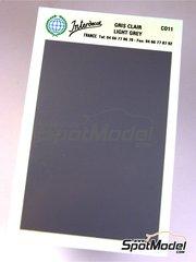 Interdecal: Decals - 75 x 110 mm Light grey