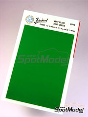 Interdecal: Decals - 75 x 110 mm Light green