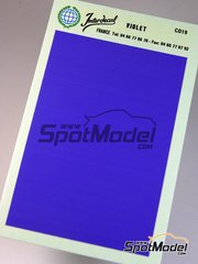Interdecal: Decals - 75 x 110 mm Violet