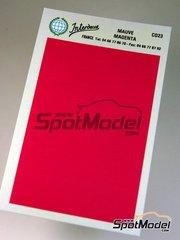 Interdecal: Decals - 75 x 110 mm Magenta