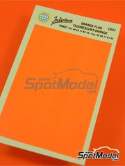 Interdecal: Decals - Fluorescent orange RAL2007