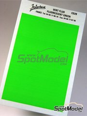 Interdecal: Decals - 75 x 110 mm Fluorescent green