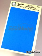 Interdecal: Decals - 75 x 110 mm Fluorescent blue