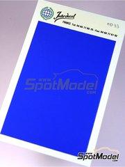 Interdecal: Calcas de agua - Calca de 75x110 de color azul violaceo