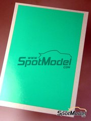 Interdecal: Decals - 75 x 110 mm clear green