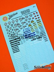 Interdecal: Calcas de agua escala 1/24 - Logos Michelin