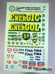 Interdecal: Decals - Logos: BP, Energol, Fina, Pure, Gasoline, Liquid Moly