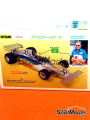 Iritani: Model car kit 1/20 scale - Fittipaldi FD-01 Copersucar #30 - Wilson Jr. Fittipaldi (BR) - World Championship 1975