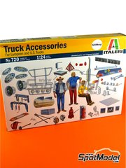 Italeri: Model kit 1/24 scale - Truck accesories and figures - plastic parts, water slide decals and assembly instructions