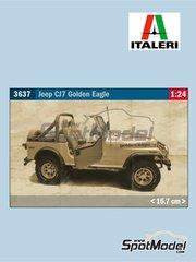 Italeri: Maqueta de camión escala 1/24 - Scania T143H 6x2 - piezas de plástico, piezas de goma, calcas de agua, manual de instrucciones e instrucciones de pintado