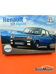 Italeri: Maqueta de coche escala 1/24 - Renault R5 Alpine - piezas de plástico, piezas de goma, calcas de agua, manual de instrucciones e instrucciones de pintado