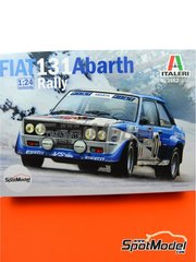 Italeri: Model car kit 1/24 scale - Fiat 131 Abarth - plastic parts, rubber parts, water slide decals, assembly instructions and painting instructions