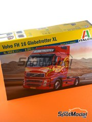 Italeri: Model truck kit 1/24 scale - Volvo FH16 Globetrotter XL - plastic parts, rubber parts, water slide decals, assembly instructions and painting instructions - for Italeri references 3907 and 3931