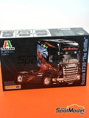 Italeri: Model truck kit 1/24 scale - Scania R730 - plastic parts, rubber parts, water slide decals, other materials and assembly instructions