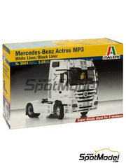 Italeri: Model truck kit 1/24 scale - Mercedes-Benz Actros MP3 - plastic model kit