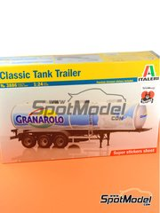 Italeri: Trailer kit 1/24 scale - Classic tank trailer - plastic parts, rubber parts, water slide decals and assembly instructions